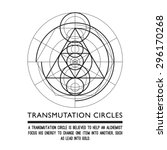 transmutation circles   space... | Shutterstock .eps vector #296170268