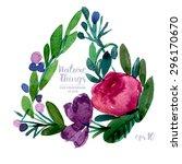 beautiful vector set flowers... | Shutterstock .eps vector #296170670