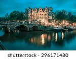 Night City View Of Amsterdam...
