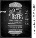 best burgers poster  ... | Shutterstock .eps vector #296174108