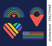 set of lgbt icons | Shutterstock .eps vector #296174468
