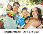 family happiness parents... | Shutterstock . vector #296175950