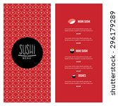 abstract sushi menu background...   Shutterstock .eps vector #296179289