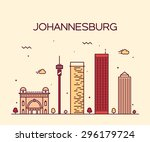 Johannesburg skyline free vector art 663 free downloads johannesburg skyline detailed silhouette trendy vector illustration linear style thecheapjerseys Image collections