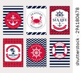 set of nautical and marine... | Shutterstock .eps vector #296180678