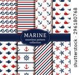 set of marine and nautical... | Shutterstock .eps vector #296180768