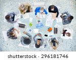 meeting communication planning... | Shutterstock . vector #296181746
