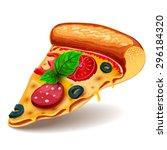 vector image of creative pizzas ... | Shutterstock .eps vector #296184320
