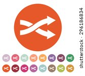 the intersecting arrows icon.... | Shutterstock .eps vector #296186834