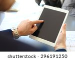 close up image of an office... | Shutterstock . vector #296191250