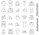 Stock vector  clothes line icons set vector 296192303