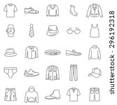 man clothes line icons set... | Shutterstock .eps vector #296192318