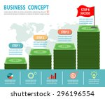 successful businessman standing ... | Shutterstock .eps vector #296196554