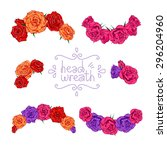 Head Wreath Set. Vector...
