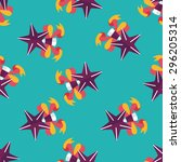 christmas star flat icon eps10... | Shutterstock .eps vector #296205314