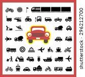 vector basic icon for transport  | Shutterstock .eps vector #296212700
