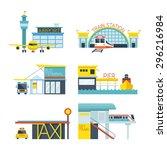 mode of transport illustration... | Shutterstock .eps vector #296216984