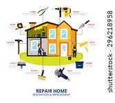 home renovation and improvement ... | Shutterstock .eps vector #296218958