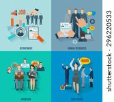 hire design concept set with... | Shutterstock .eps vector #296220533