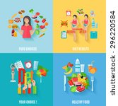 healthy choices  before and... | Shutterstock .eps vector #296220584