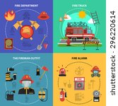 fire fighting design concept... | Shutterstock .eps vector #296220614