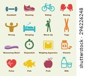 healthy elements  infographic... | Shutterstock .eps vector #296226248