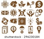 dollar icon set. these flat... | Shutterstock .eps vector #296230184
