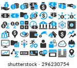 business icon set. these flat... | Shutterstock .eps vector #296230754