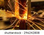 industrial welding automotive... | Shutterstock . vector #296242808