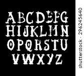 hand drawn watercolor alphabet. ... | Shutterstock .eps vector #296245640