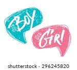 it's a boy or girl bubbles for... | Shutterstock .eps vector #296245820