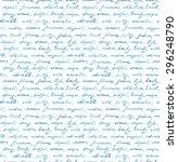 hand written text   lorem ipsum ... | Shutterstock . vector #296248790