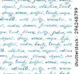 hand written words   fashion... | Shutterstock . vector #296248799