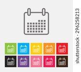 calendar icon   vector | Shutterstock .eps vector #296258213