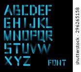 modern gradient blue font | Shutterstock .eps vector #296265158