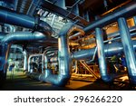 equipment  cables and piping as ... | Shutterstock . vector #296266220