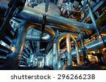 equipment  cables and piping as ... | Shutterstock . vector #296266238