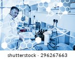 science graphic against... | Shutterstock . vector #296267663