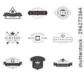 retro logotypes vector set.... | Shutterstock .eps vector #296272364