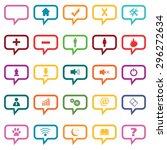 colored dialog icons with...