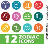 twelve round colored icons with ...