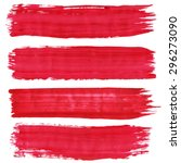 collection of brushes  red... | Shutterstock .eps vector #296273090