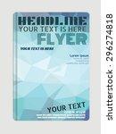 vector flyer  brochure ... | Shutterstock .eps vector #296274818
