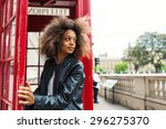 young woman portrait close to... | Shutterstock . vector #296275370