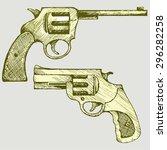 old revolver pistol. vector... | Shutterstock .eps vector #296282258