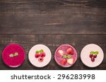 set of fruit smoothie in... | Shutterstock . vector #296283998