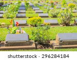 kanchanaburi war cemetery... | Shutterstock . vector #296284184