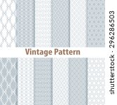 set of nine seamless pattern in ...   Shutterstock .eps vector #296286503