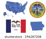 vector illustration of iowa... | Shutterstock .eps vector #296287208