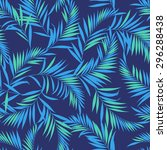 tropical plants pattern | Shutterstock .eps vector #296288438
